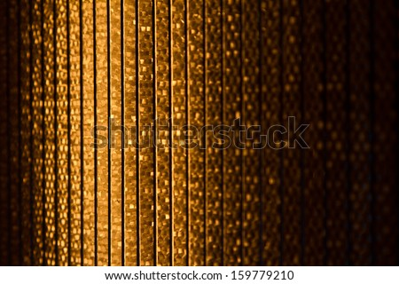Close up of a halogen or Infrared heater lamps - stock photo