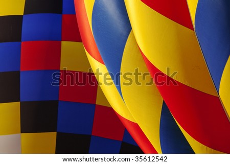 close up of a hot air balloon texture - stock photo