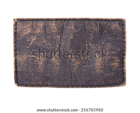 close up of a jeans label - stock photo