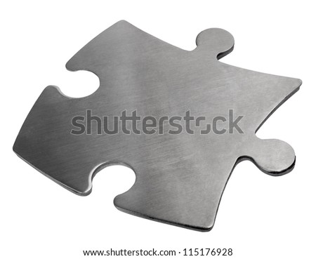 Close-up of a jigsaw puzzle piece - stock photo