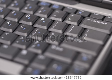 Close-up of a laptop keyboard
