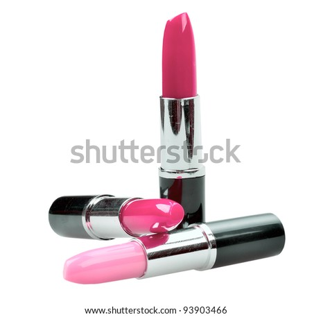 close up of a lipstick isolated on white background - stock photo