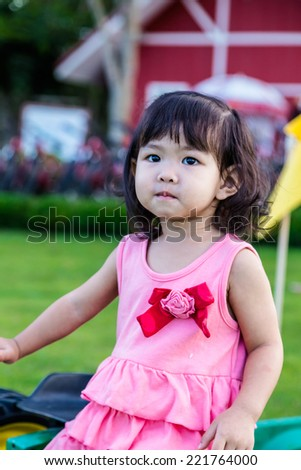 Close up of a little baby girl  - stock photo