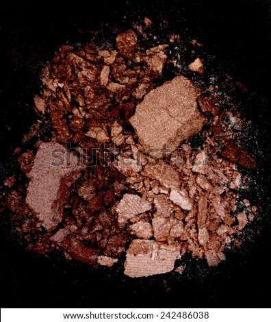 Close up of a make up powder on black background