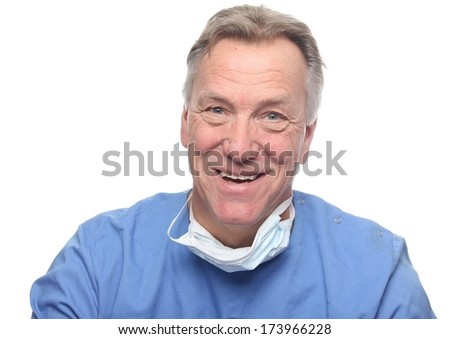 Close-up of a male surgeon - stock photo