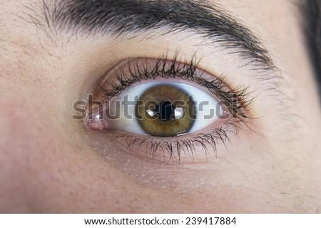 Close up of a man eyes  - stock photo