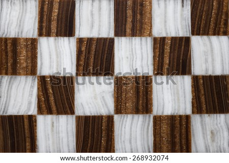 Close up of a marble chessboard made by hand - stock photo