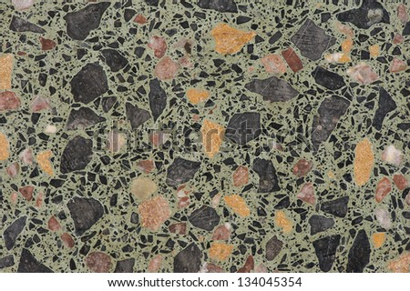 Close up of a marble mosaic floor pattern - stock photo