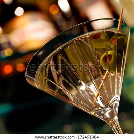 Close up of a martini - stock photo