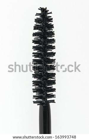 Close-up of a Mascara Brush on a white background