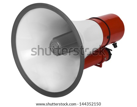 Close-up of a megaphone - stock photo