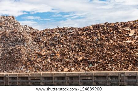 Close-up of a metal  scrap - stock photo