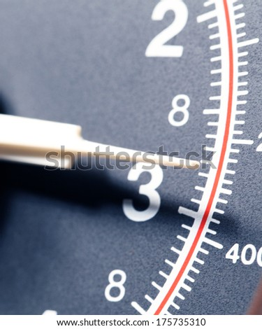 Close up of a modern scale - stock photo