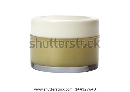 Close-up of a moisturizer container