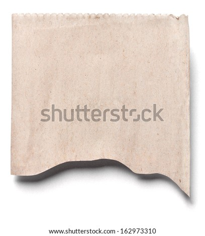 close up of a newspaper piece on white background - stock photo