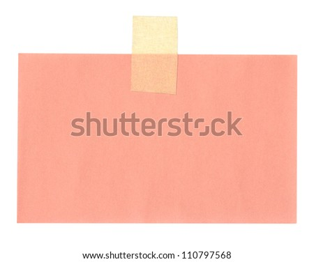 close up of a note paper on white background - stock photo