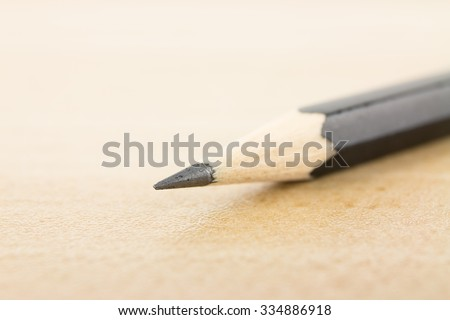 Close Up of a pencil tip - stock photo