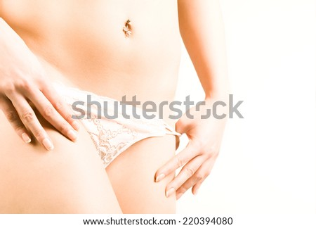 Close up of a perfect female body  - stock photo
