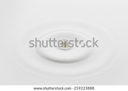 Close-up of a perfect minimalistic milk splash - stock photo