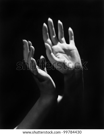 Close-up of a person's hands - stock photo
