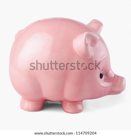 Close-up of a piggy bank - stock photo