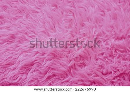 Close up of a pink fur - stock photo