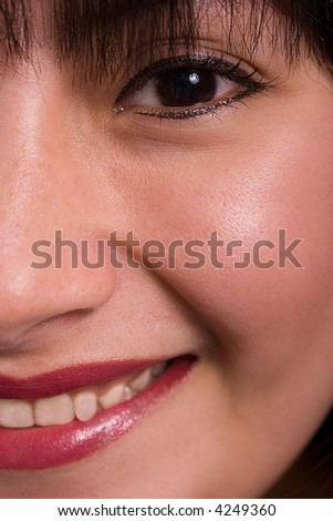 Close-up of a pretty girl's face