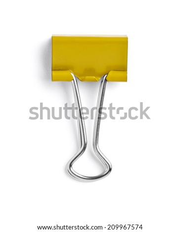 close up of a pushpin on white background with clipping path - stock photo
