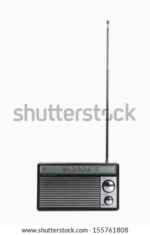 Close-up of a radio - stock photo