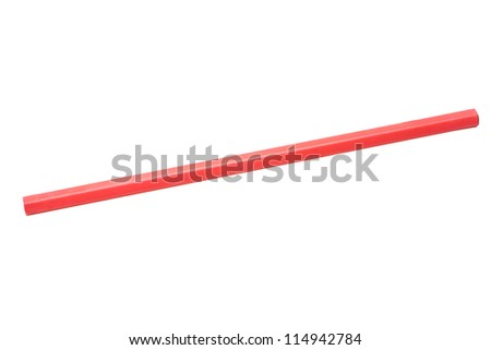 Close-up of a red pencil