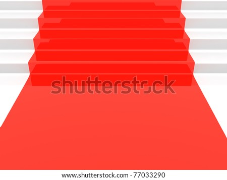 Close up of a red stair - stock photo