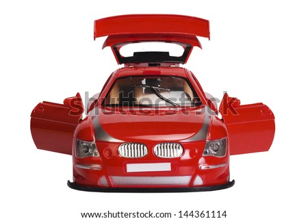 Close-up of a remote controlled toy car - stock photo