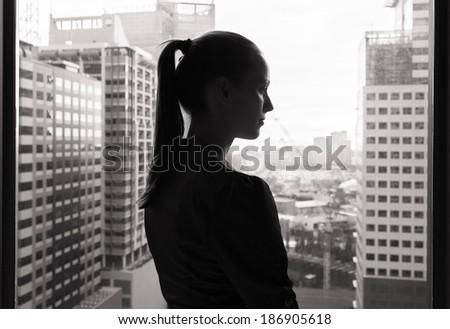 Close up of a sad woman. - stock photo