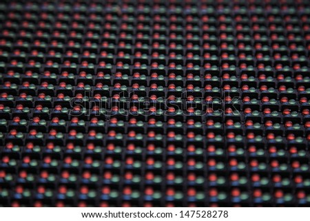Close-up of a Screen made of multiple LED - stock photo