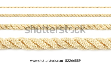Close up of a seamless rope isolated a white background