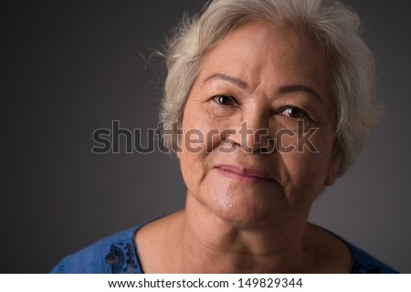 Close-up of a senior woman