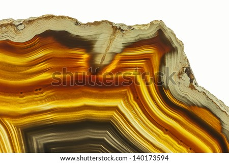 Close up of a Slice Agate Gemstone - stock photo