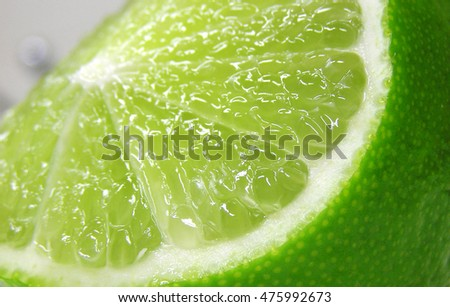 close-up of a slice of lime