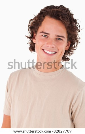 Close up of a smiling man in a studio