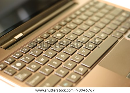 Close-up of a special keyboard for a tablet
