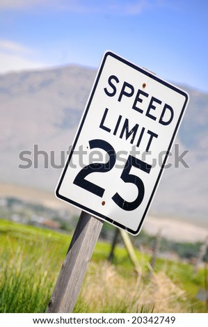 close up of a  speed sign - stock photo