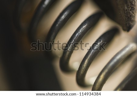 Close-up of a spring