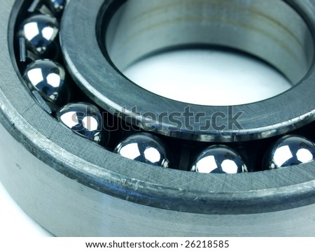 Close-up of a stainless steal bearing