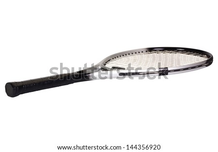 Close-up of a tennis racket - stock photo