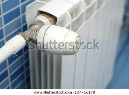 Close-up of a thermostat - stock photo