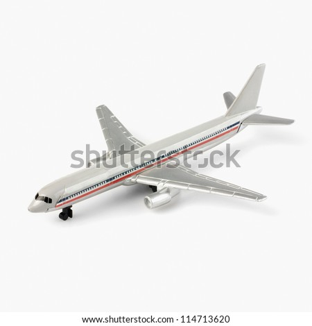 Close-up of a toy airplane - stock photo