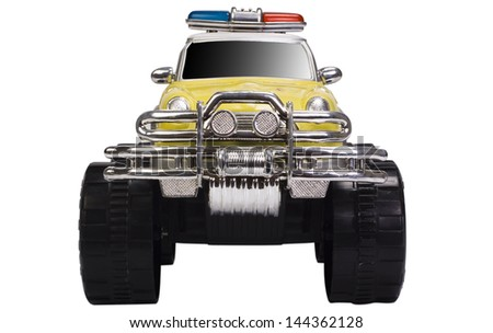Close-up of a toy monster truck - stock photo
