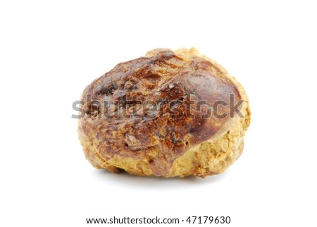close-up of a traditional portuguese small pastry called saints cakes (isolated on white background)