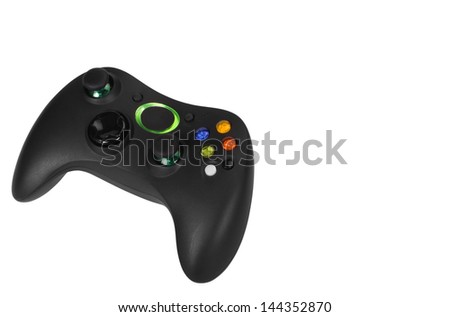 Close-up of a video game controller - stock photo