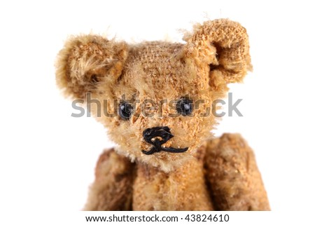 Close-up of a vintage teddy bear. - stock photo